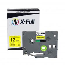 Fita rotuladora compatível Brother TZE-FX631 12MMx8M Preto/Amarelo - X-Full