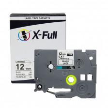 Fita rotuladora TZE-MPSL31 12MM Prata Renda - X-Full