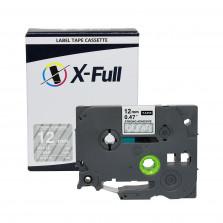 Fita Industrial compatível Brother TZE-S135 12MMx8M Branco/Transparente - X-Full
