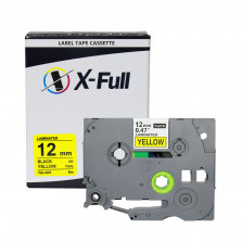 Fita rotuladora compatível Brother TZE-631 12MMx8M Preto/Amarelo - X-Full