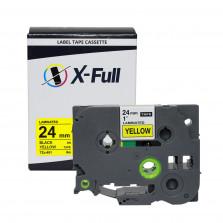 Fita rotuladora compatível Brother TZe-651 24MMx8M Preto no Amarelo - X-Full