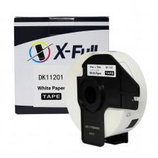Etiqueta de Papel Térmico compatível Brother DK1201 29X90MM Pré Cortado 400 fitas - X-Full