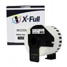 Etiqueta compatível DK-2205 - 62mmX30,4m Preto/Branco - XFULL