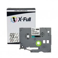 Fita rotuladora TZE-131 12MM Transparente - X-Full