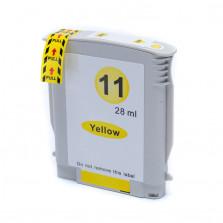 Cartucho de Tinta Compatível com HP 11 - Amarelo 28ml