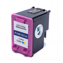 Cartucho de Tinta Microjet Compatível com HP 122XL - Colorido 13ml