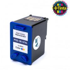 Cartucho de Tinta Microjet Compatível com HP 22 28 57XL - Colorido 14ml