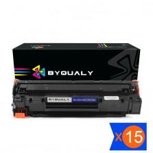 Kit 15 Toner Compatível HP Universal CB435A CB436A CE278A CE285A 2k Byqualy