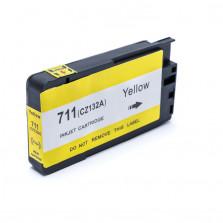 Cartucho de Tinta Compatível com HP 711XL - Amarelo 29ml