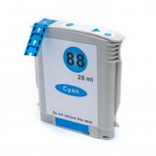 Cartucho de Tinta Compatível com HP 88XL - Ciano 28ml