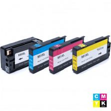 KIT CARTUCHO HP 950XL PRETO, 951XL CIANO, 951XL MAGENTA E 951XL AMARELO