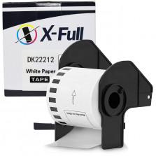 Etiqueta compatível DK-22212 DK2251 - 62mmX15,24m Preto/Branco - XFULL