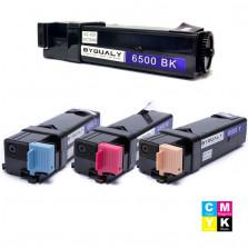 KIT TONER COMPATÍVEL XEROX PHASER 6500 6505 PRETO, CIANO, MAGENTA E AMARELO BYQUALY