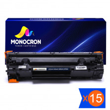 Kit 15 Toner Universal CB435A CB436A CE278A CE285A 2k Monocron