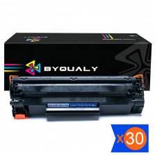 Kit 30 Toner Compatível HP Universal CB435A CB436A CE278A CE285A 2k Byqualy