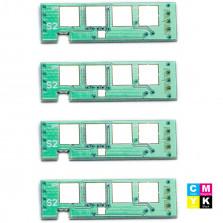 KIT 4 CHIP P/ SAMSUNG CLT-406 PRETO, CLT-406 CIANO, CLT-406 AMARELO E CLT-406 MAGENTA