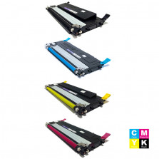 KIT TONER COMPATÍVEL COM SAMSUNG CLP325 PRETO, CLP325 CIANO, CLP325 AMARELO E CLP325 MAGENTA