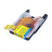 Cartucho de Tinta Compatível com BROTHER LC75 LC77 LC79 1240/1280 Universal - Amarelo 18ml