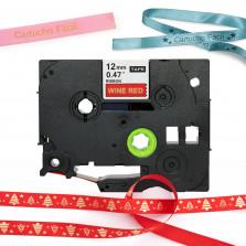 Fita Cetim TZe-RW34 12MM Vermelho - X-Full
