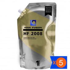 KIT 5 PÓ HIGH FUSION HF2008 PARA TONER HP
