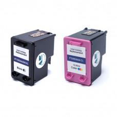 Kit Cartucho de Tinta Compatível HP 664XL Preto 14ml Color 12ml Microjet