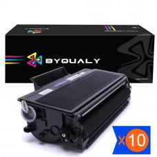 KIT 10 TONER COMPATÍVEL COM TN580 TN650 8K 8080 COMPATÍVEL BYQUALY