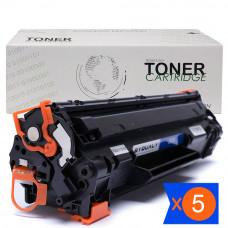 Kit 5 Toner CF283 83a m127 M125 1.5k