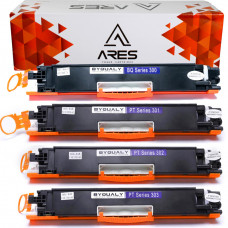 KIT Toner Comátível HP 126A 130A - CE310, CE311, CE312 E CE313 - ARES