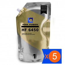 KIT 5 PÓ HF6450 PARA TONER TN450 TN360 TN350 TN410 HIGH FUSION
