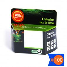 KIT 100 CAIXAS DE PAPELÃO PARA CARTUCHO DE TINTA - SAPO