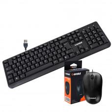 Kit OFFICE Teclado EO202 + Mouse EI102 Preto Evolut