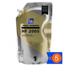 KIT 5 PÓ HIGH FUSION HF2005 PARA TONER HP